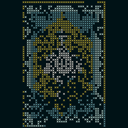 Explain Cross Stitch Rozet 1220BY